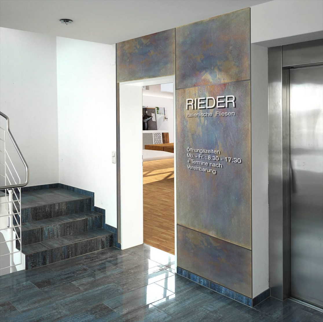 mhp archiekten innenarchitekten showroom f r fliesen. Black Bedroom Furniture Sets. Home Design Ideas